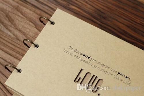 Love Heart Cut Out A4 Size Scrapbook Album Folder Photo Wedding Guestbook Custom