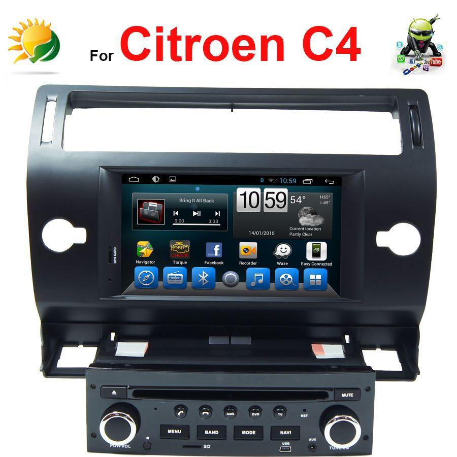 android car stereo for citroen c4 dvd car player with gps navigation 3g wifi tv radio bluetooth. Black Bedroom Furniture Sets. Home Design Ideas