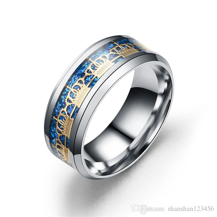 fashion Stainless Steel Ring Silver Gold Crown Rings Band Ring Cuff Crown Design Fashion Jewelry for Women Men 080248