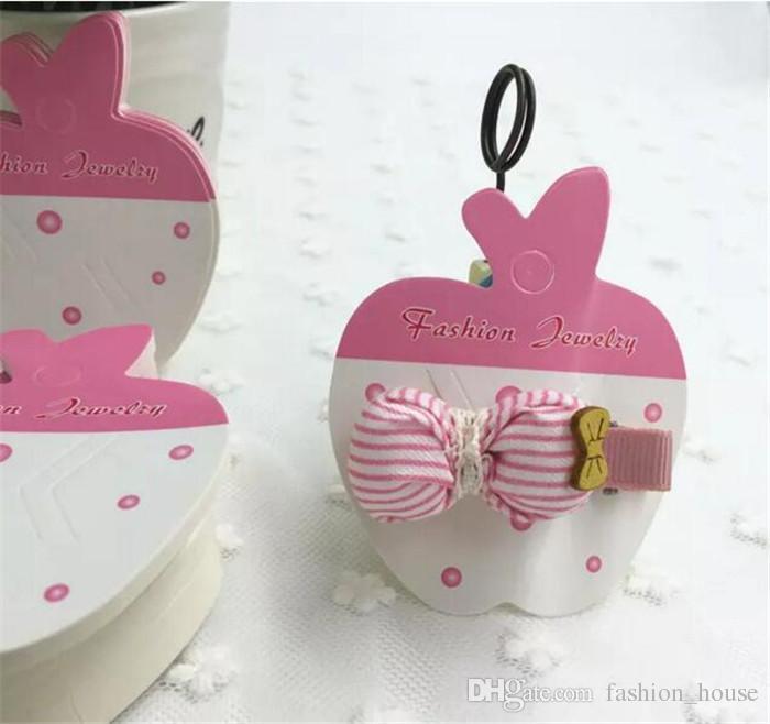 3 Styles Hot Charm Bowknot Flower Dot Hair Clip Hair Claws Bow Hair grips Hanging Card Display Tag A08