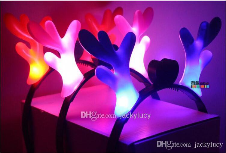 Bonito Hoops Cabelo Aro LEVOU Brinquedos Iluminados Para Adultos e Crianças Xmas Party Holiday Rave Elogio Presente Brinquedo Venda Barato