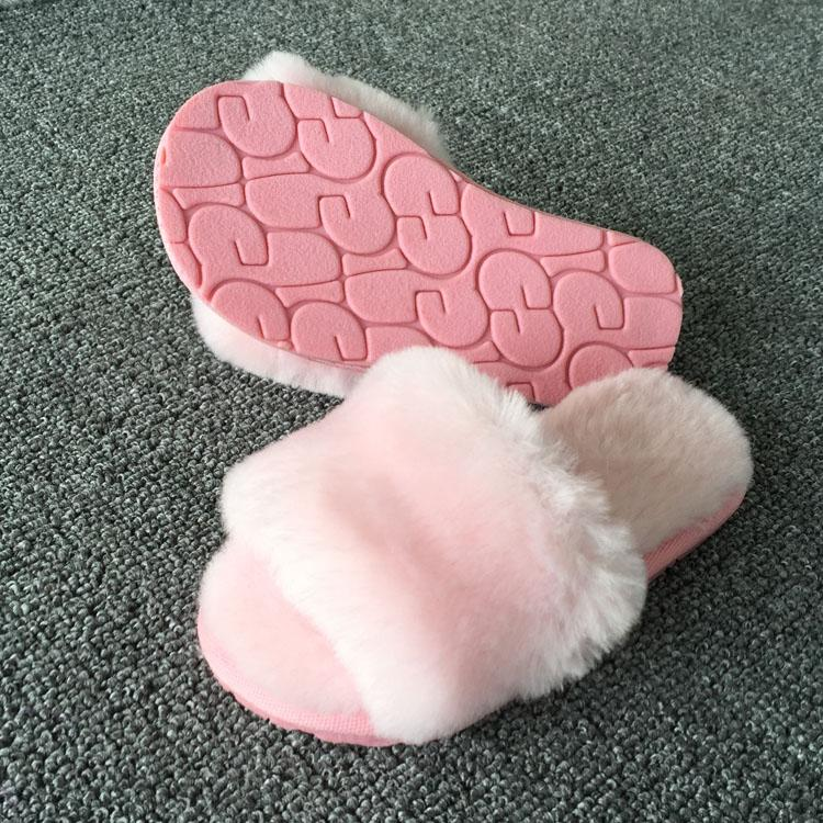 a4a95083c77 Winter Kids Slippers Fur Home Boys   Girls Warm Comfortable Fluffy Anti  Slip Shoes Indoor Home Slipper Wear For Kids Soft Sole Size 22 40 Kids  Fluffy ...