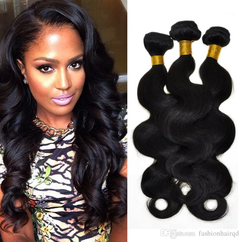 Malaysian Body Wave Human Hair Bundles Weaves Unprocessed Human Hair Extensions Double Weft Natural Color Dyeable 8-30 inch