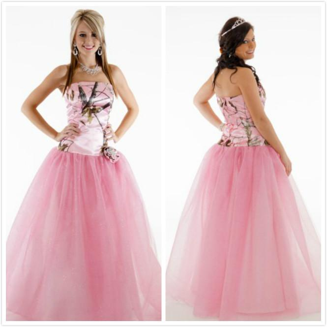 Discount Pink Realtree Wedding Dresses With Handmade Flower Camo ...