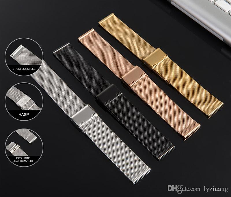 Stainless Steel Milanese Loop bands for Apple Watch 42mm 38mm Milanese Gold Band for Iwatch Series 1 2 3 Milanese Band Bracelet Belt