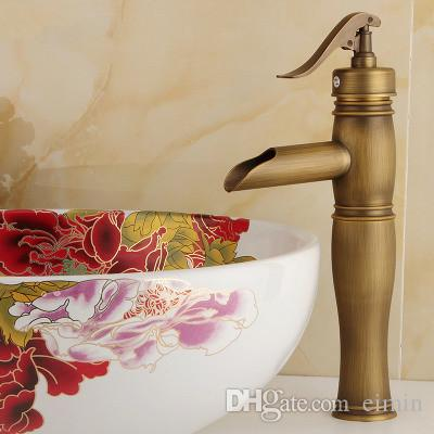 Wholesale and retail free shopping Copper basin faucet Kitchen & bathroom faucet Single hole of cold faucet Retro style Hat &Their style
