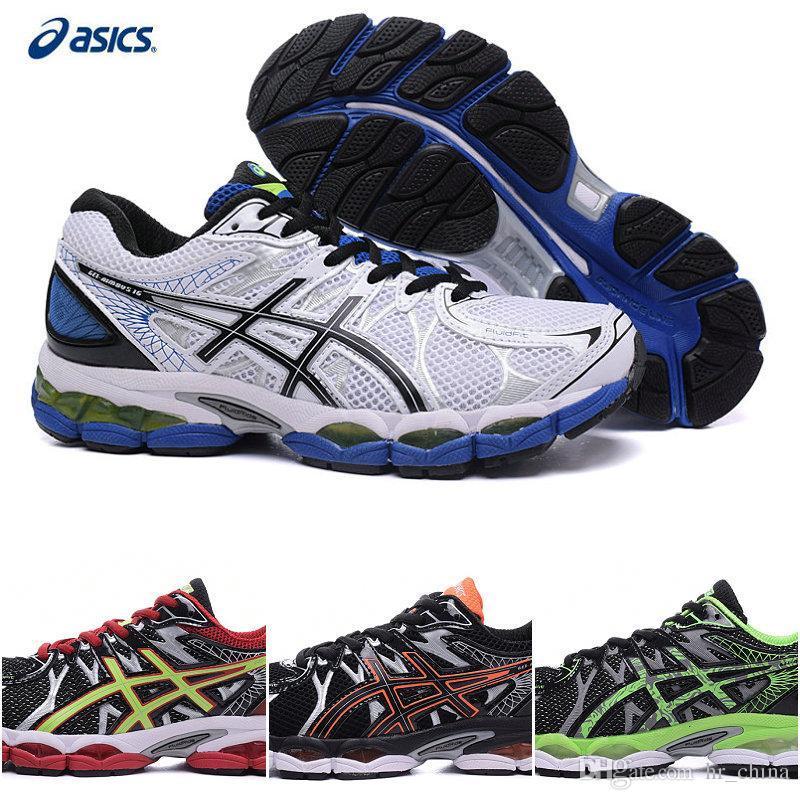 Compre Almofada Baratos Asics Gel Nimbus 16 Running Shoes Para Os Homens  Com Fluid Ride efede146d84aa