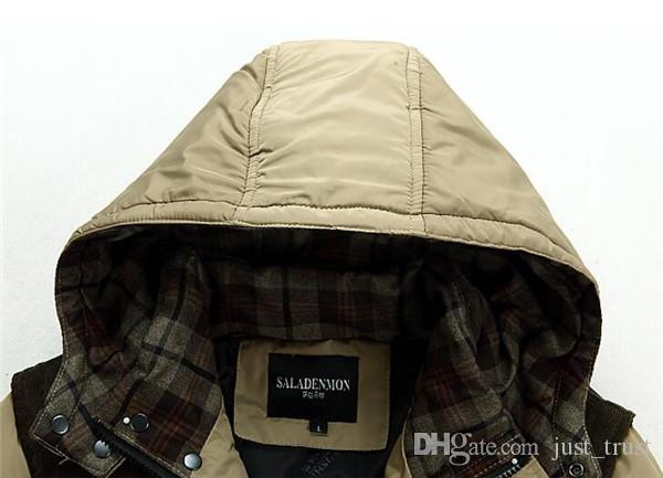 2016 vente Mâle mode hiver plume couture coton rembourré manteau hommes coréens hommes US style veste hommes