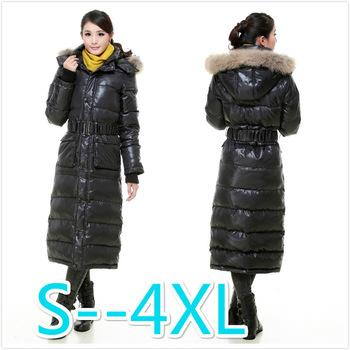 2018 Women Winter X Long Down Down Jacket Hood Parkas Thicker Warm ...