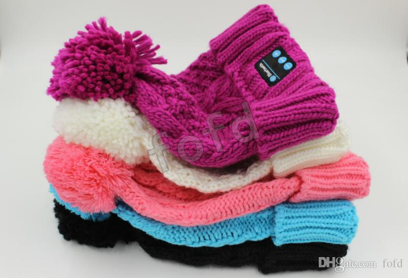 Bluetooth Beanie Knitted Winter Hat Headset Hands-free Music Mp3 Speaker Mic Cap Magic Sport Hats