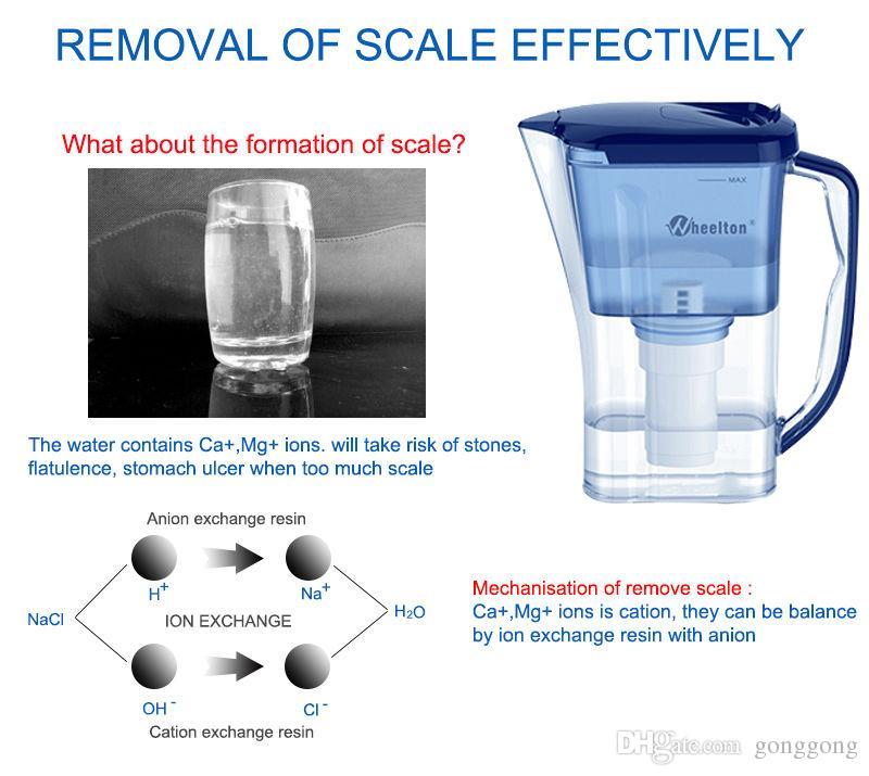Прямой питьевой фильтр для воды Кувшин 4.5 Кубок бытовой кухни открытый Уменьшить известный BPA Бесплатный очиститель сертифицирован