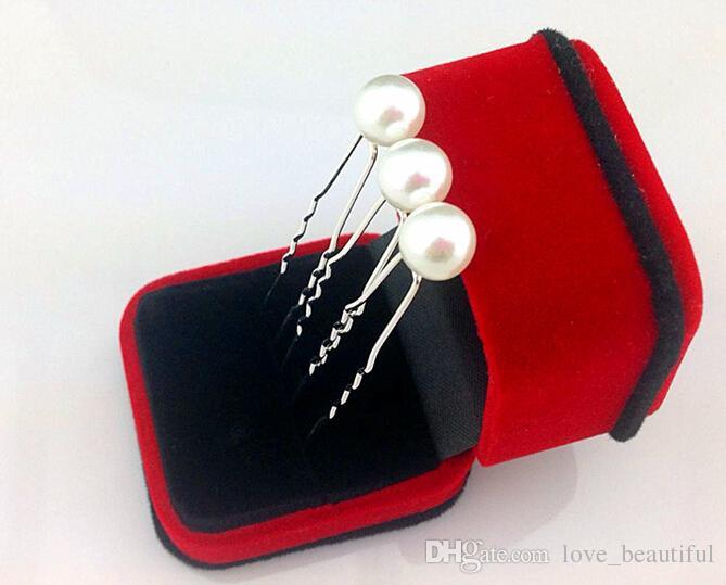 2015 горячие продажи 50 шт. / лот 10 мм белый жемчуг заколки для волос свадьба невеста заколки для волос женщина заколки для волос