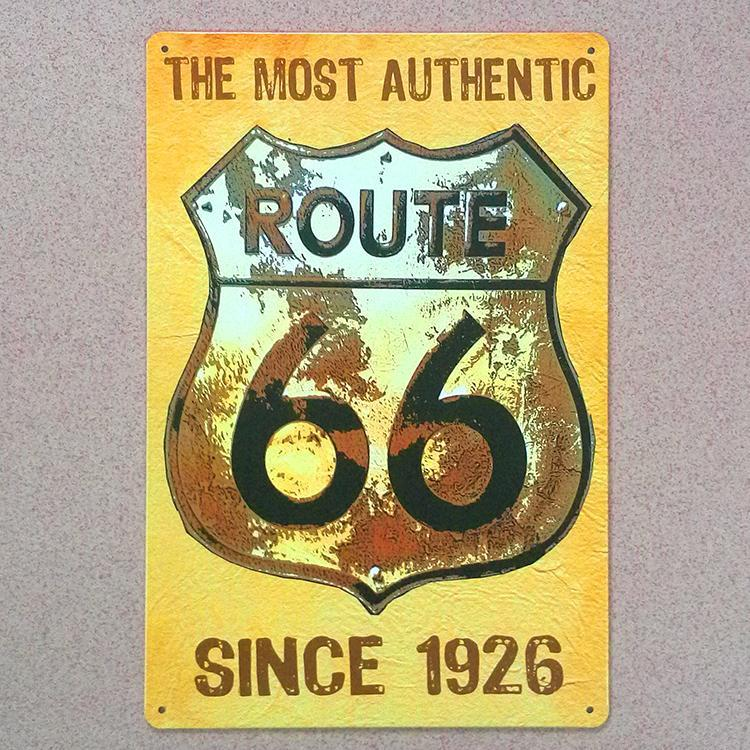 Vintage Home Decor Route 66 Road Metal Tin Signs Decorative Metal ...