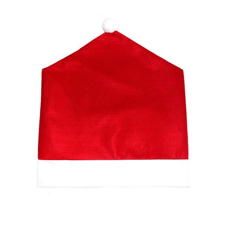Лучший Санта-Клаус Пункт Шляпа Крышки Стула Ужин Стул Крышка Наборы Для Рождества Рождественские Украшения Главная Партия Праздник Праздничный Красный