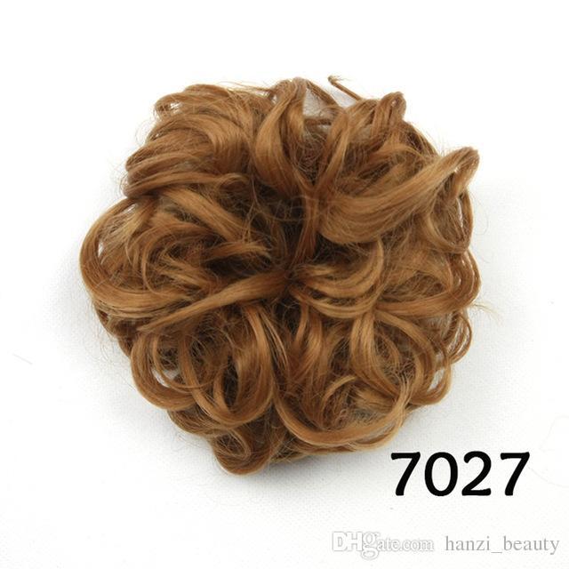 Synthetic Hair Headband Hair Bun Chignon High Temperature Fiber Hair Donut Roller Hairband Scrunchie