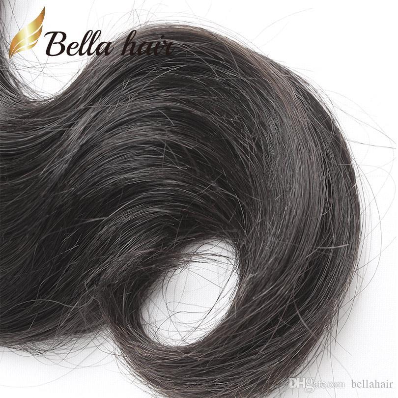 Le estensioni malesi tessono i capelli naturali dei capelli umani dell'onda di corpo di colore doppia trama Bellahair 8A /