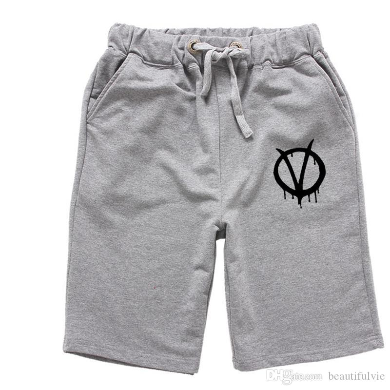 Best Men Summer Cotton Shorts V For Vendetta Logo Gym Clothing ...