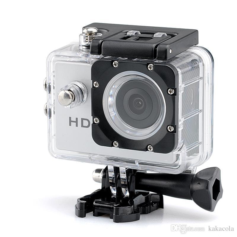 Macchina fotografica di sport di vendita calda 1080p HD - sensore di CMOS di 2.0 Megapixels Angolo di obiettivo di 140 gradi 30 gamma impermeabile del tester Trasporto libero
