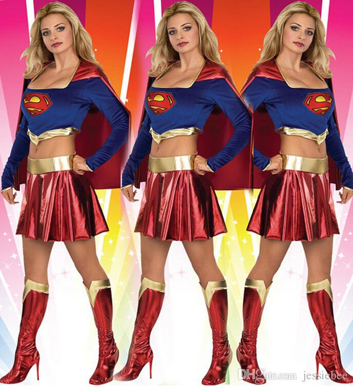 2015 ladies dress up fancy dress costume superwoman game uniforms superman wonder woman halloween costume party cosplay costume good group costumes for - Free Halloween Dress Up Games
