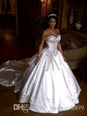 Vintage Royal Sparkly Luxury Crystal Beaded Pnina Tornai Wedding Dresses Sweetheart Ball Gown Backless Chapel Train Wedding Gown Cheap