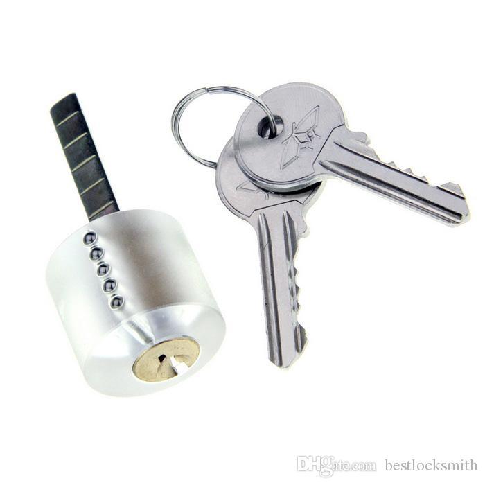 Strumento manuale fabbro Lock Pick Gun + W / Bull Head pratica lucchetto fabbro Skill Trainning + singolo gancio 5 pezzi Set di grimaldelli