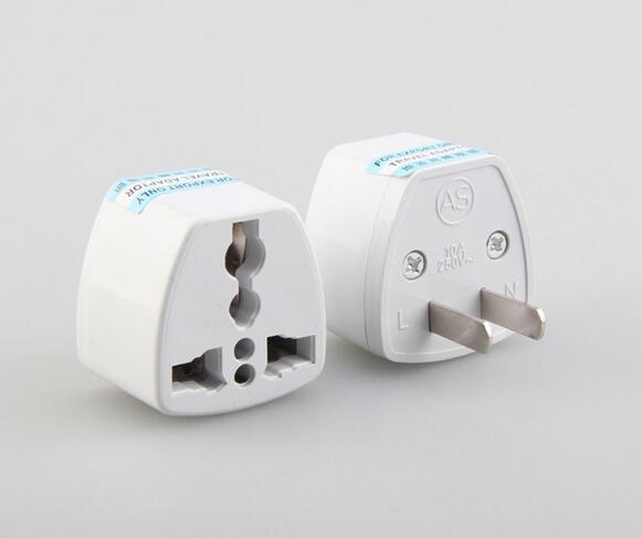 High Quality Travel Charger AC Electrical Power UK/AU/EU To US Plug Adapter Converter USA Universal Power Plug Adaptador ConnectorWhite