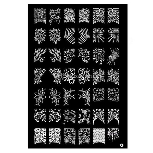 BIG Designs * 9 style XXL Nail Art Stamping Plate Stamp image Plaques XL  Stencil Modèle