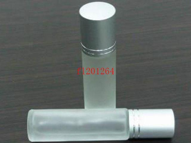 600 قطعة / الوحدة شحن مجاني بالجملة 10 ملليلتر لفة الزجاج الشفاف على زجاجة عطر الضروري النفط لفة على حاوية