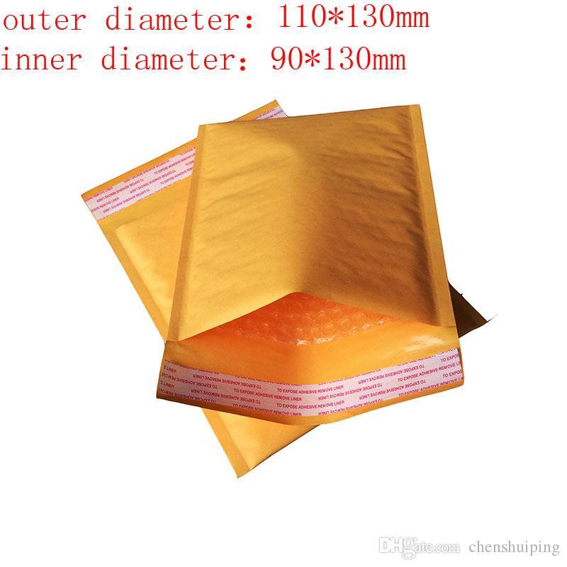 110 * 100 110 * 130 110 * 150 110 * 170 122 * 178mm atacado Amarelo Kraft Bubble Mailers Envelopes Acolchoados Sacos à prova d 'água frete grátis