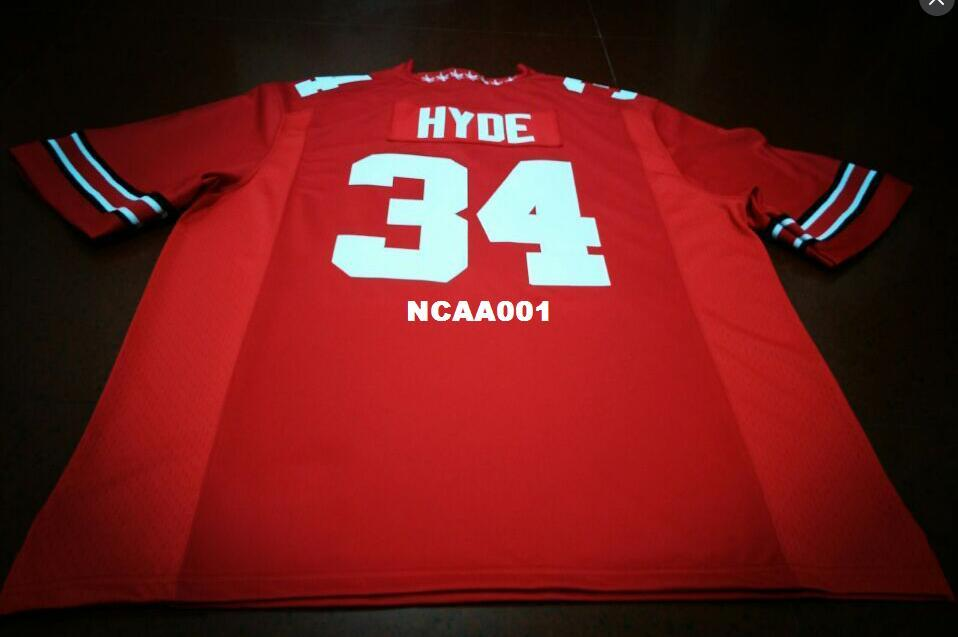 a494dc7fb10 2019 Men  34 Carlos Hyde Ohio State Buckeyes College College White Red  Black Personalized S 4XLor Custom Any Name Or Number Jersey From Ncaa001