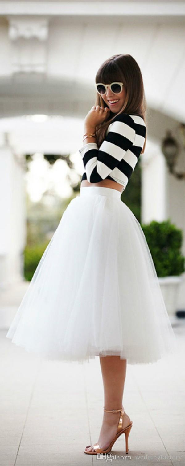 Fantastiskt alla matchparty tutu klänningar billiga skräddarsydda kjolar elfenben blush black champagne brudtärna klänning billigt informellt slitage