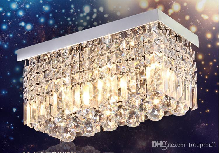 Led Kristall Kronleuchter ~ Großhandel moderne led rechteck k kristall kronleuchter lampe