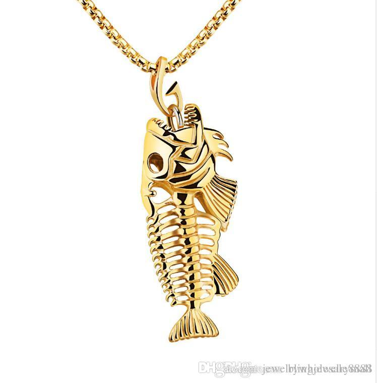 fishing gold l fish hook dainty necklace dp nautical pendant