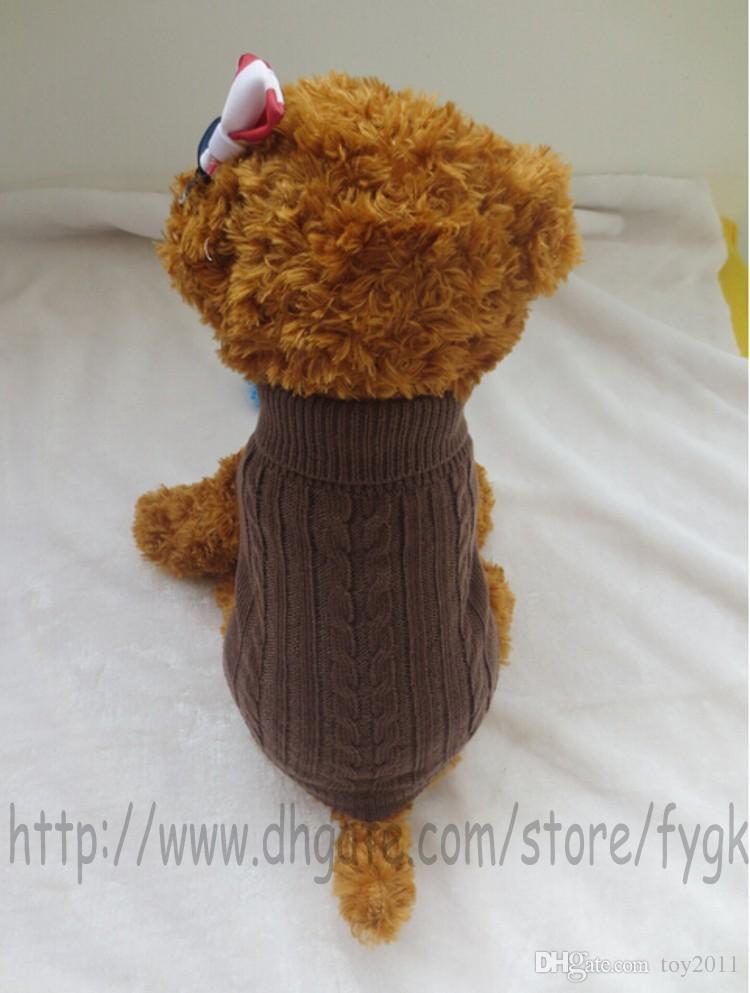 Kırmızı, mavi ve kahve Sevimli Pet Yavru Kedi Köpek Sıcak Jumper Kazak Triko Coat Giyim Giyim 5 BOYUTU