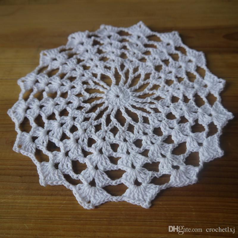 Home Textiles hand crochet doilies, tbale cloth handmade table mats/centerpieces for wedding home decor