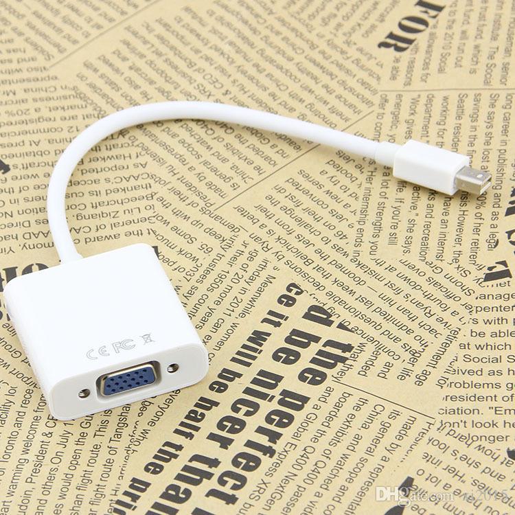 15CM Mini DisplayPort Display Port DP Thunderbolt to Female VGA HD TV Adapter Cable For Apple iMac Mac Mini Mac Pro MacBook Air free ship