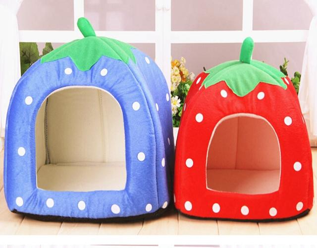 2014 Newest Cute Lovely Soft Super Cool Sponge Strawberry Pet Dog Cat House Bed ,
