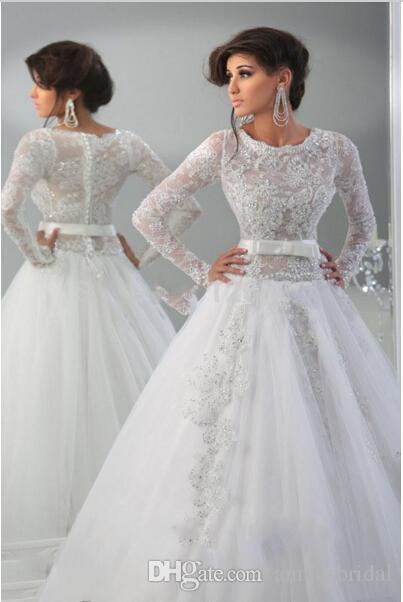 Großhandel 2015 Neue Design Langarm Indien Stil Brautkleider Chiffon ...