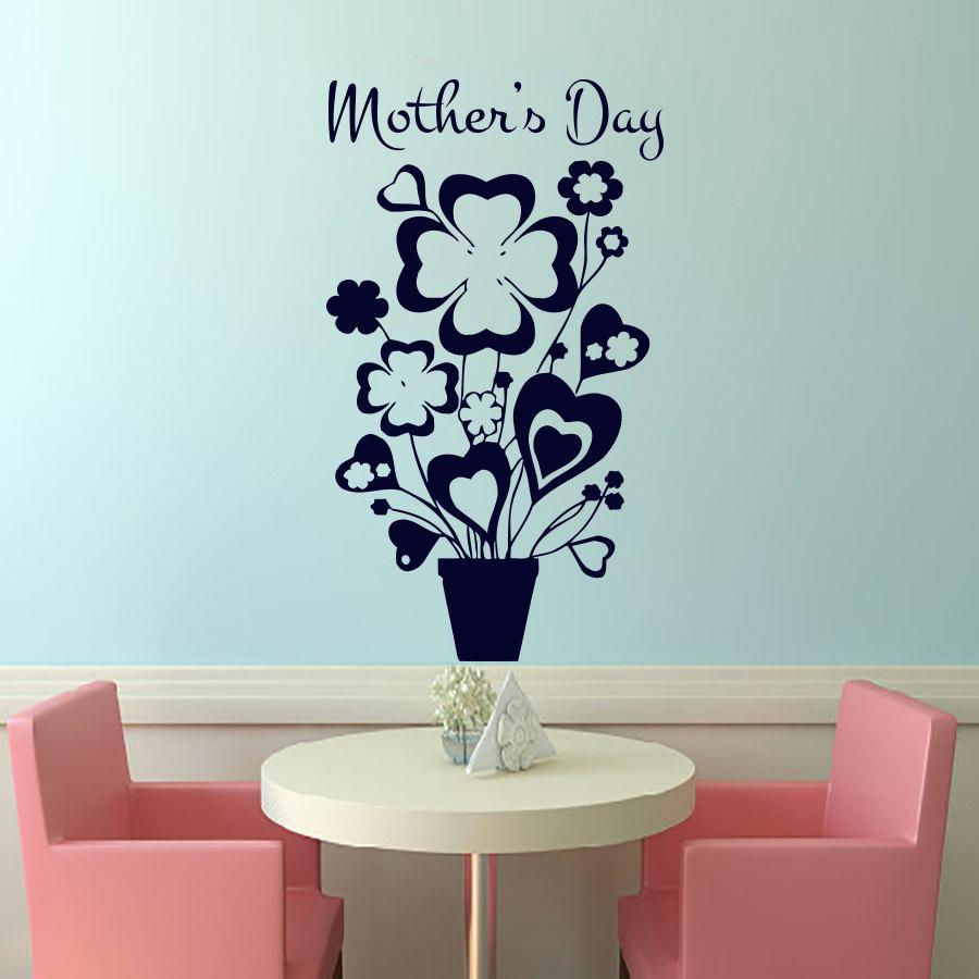 Mothers day a basin of flowers wall sticker home decor removable mothers day a basin of flowers wall sticker home decor removable vinyl plant murals for wall sticker for the wall sticker for the wall decoration from amipublicfo Image collections