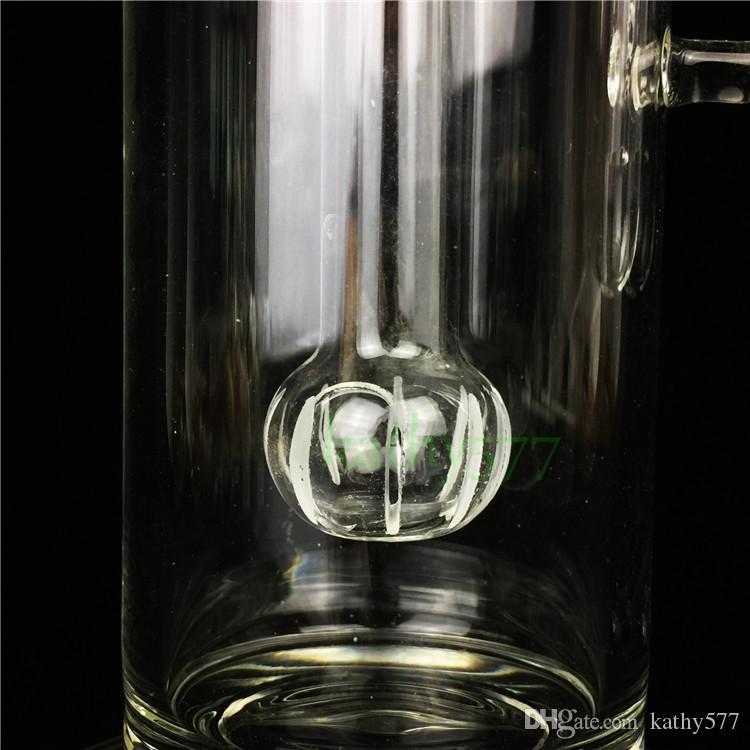 Yeni Sigara Filtresi için Iki Filtre Cam Su Boruları ile Geri Dönüşüm Petrol Kuleleri Cam Bongs Nargile Boru Kül Catcher Bong Stokta Noel hediyesi