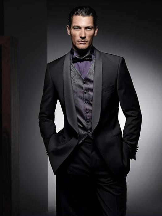 Cool Black Bridegroom 2015 Groom Tuxedo Men Wear Groomsman Best ...