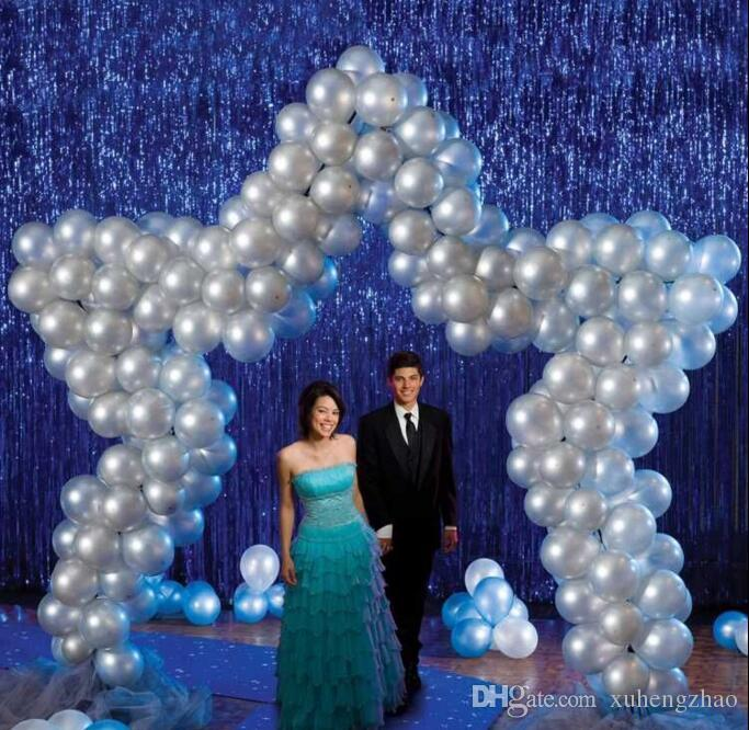 New Fashion Design 1m2m Gold Silver Rain Backdrops Photo Booth Props Curtain Wedding Party Decorations Supplies Peacock Red
