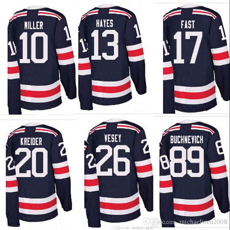info for 07134 b270b 89 Pavel Buchnevich Jersey 2018 Winter Classic New york Rangers 40 Michael  Grabner Mens Womens Youth Custom Hockey Jerseys