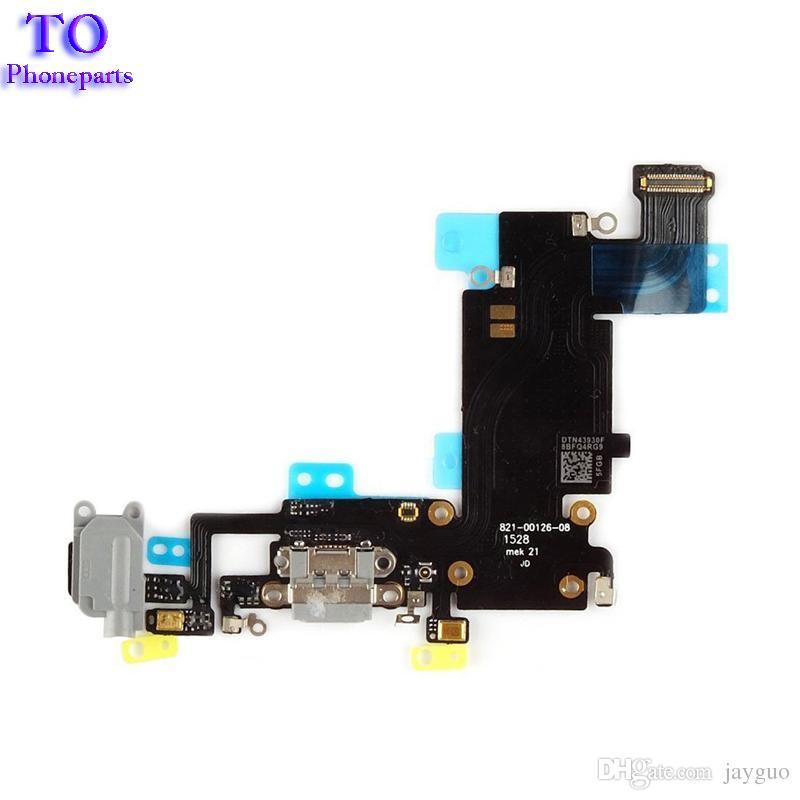 Neues Dock Ladeanschluss Kopfhöreranschluss Mikrofonanschluss Flexkabel für iPhone 6 6s Plus 5,5 Zoll Ersatzteile