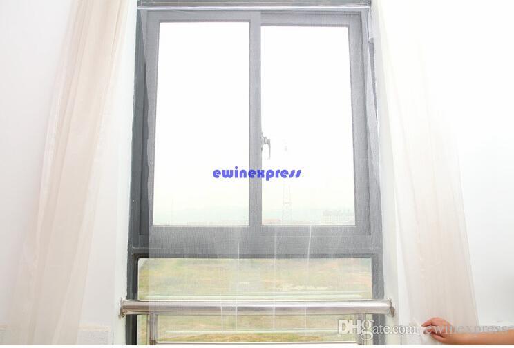 Hochwertiges weißes großes Fenstergitter-Maschennetz-Insekten-Fliegen-Wanzen-Moskito-Motten-Tür-Filetarbeit Neu