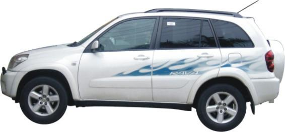Toyota Rav Jeep Blue Five The Of Ribbon Color Stickers Car - 2005 rav4