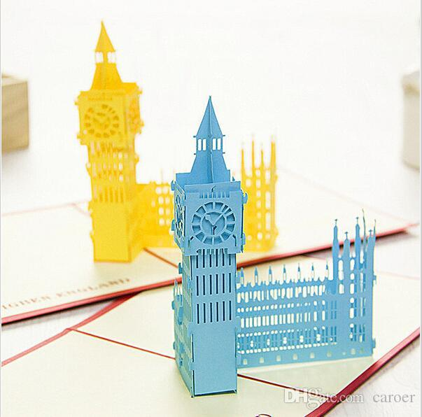 New Design Origami Paper Pop Up Cards Greeting Card 3d The Big Ben Building Model Postcard Wedding For Friend Gift Coupons Free Online From