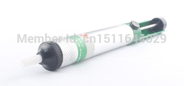 High Qulity Aluminum Alloy Desoldering Pump Powerful Suction Tin Gun Soldering Tools Iron Removal with order<$18no track