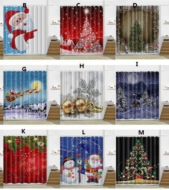 2019 New Snowman Shower Curtain Merry Christmas Tree Sleepy Pattern Bathroom Bath 165180cm Wn304 From