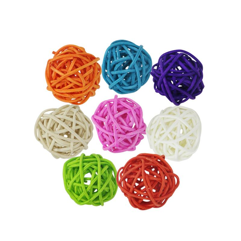 Mix color Decor Rattan Wicker Cane Ball 3cm Rattan Balls for Home Garden Patio Wedding Birthday Party decoration
